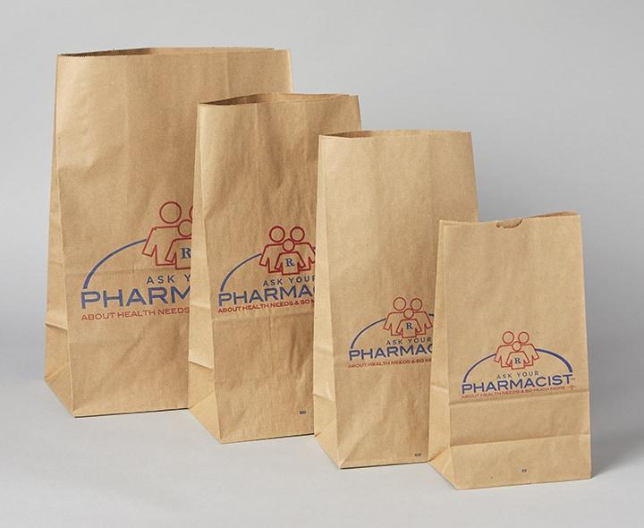 Flat Bottom Bags (Brown)