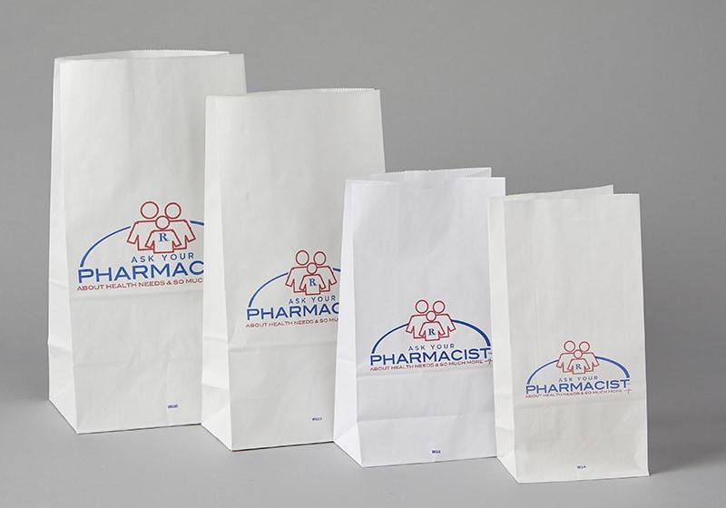 Flat Bottom Bags (White)
