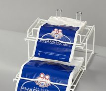 Plastic Rx Pharmacy Bag Rack